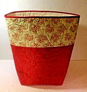 Large-Quilted-Fabric-Baskets-100-Cotton-16-tall-14-034-wide-12-034-Deep-Handmade