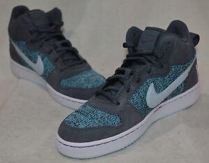 5c0618d580 Nike Court Borough Mid SE GS Grey/Glacier Blue Boy/Girl's Sneakers ...