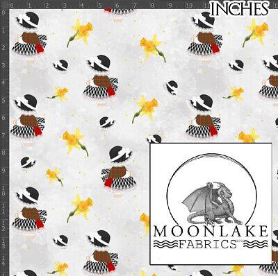 Fabric 100/% Cotton 130gsm Poplin Daffodil /& Freesias