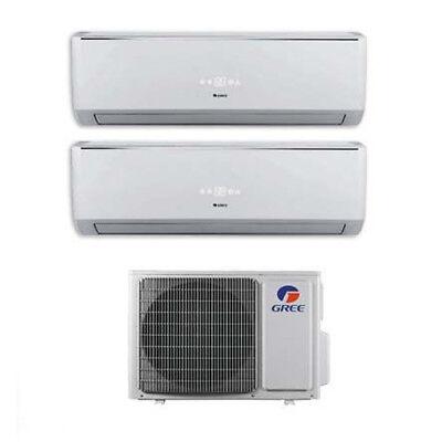 Climatizzatore Inverter Dual Split Gree Lomo WiFi 9+12 9000+12000 Btu R32 GWHD14