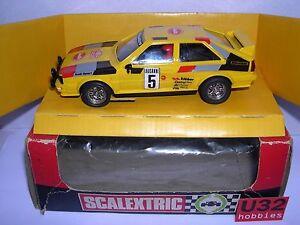 Scalextric Exin 4070 Audi Quattro #5 Jaune Boîte Emploi Excellent