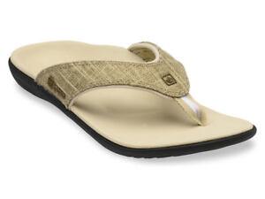 Women-039-s-Spenco-Total-Support-Orthotic-Flip-Flops-Sandals-Khaki-Gold-Sz-6