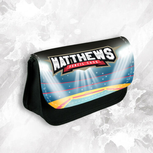 Personalised Any Name Wrestling Pencil Case Make Up Bag School Kids Stationary