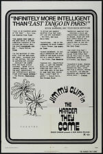 THE HARDER THEY COME Movie POSTER 27x40 C Jimmy Cliff Janet Barkley Carl