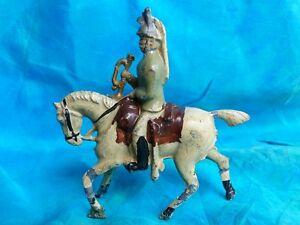 Soldat-plomb-creux-1ere-guerre-mondiale-cuirassier-a-cheval-avec-clairon-2