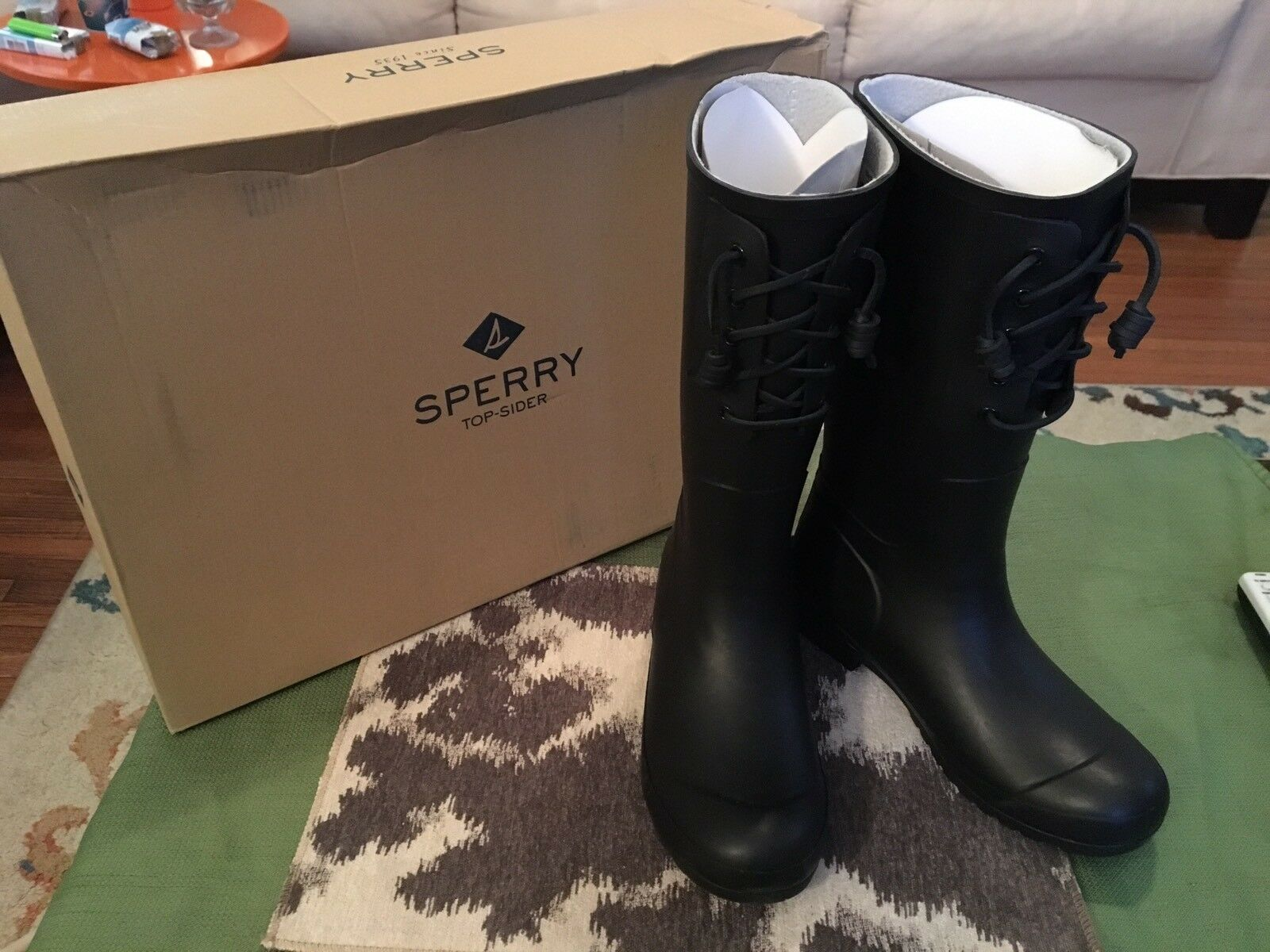 Sperry Womens All Weather Black Boots