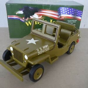 2019 Mode Us Army Willys Jeep Collector Item Holz Wood Stück Sammlerstück Hugo Koch Oliv