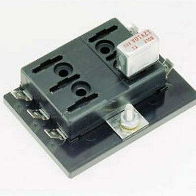 Common Hot Feed 12-24VDC 25A Cole Hersee 4766-BX Fuse Block Circuit 6 Blade