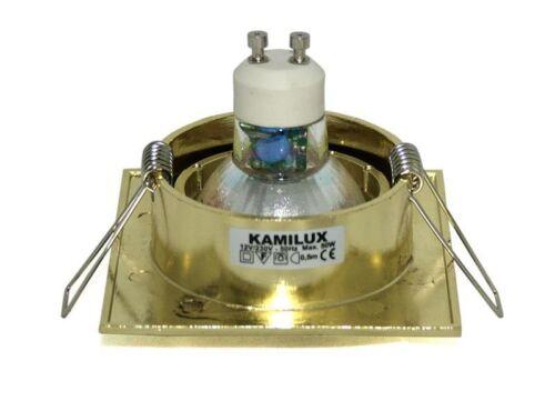 Led Leuchtmittel MR16 12V ohne Halogen Deckenspot Louis Quadrat GU10 230V