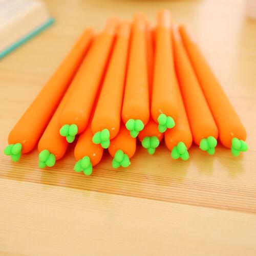 6Pcs Cute Cartoon Carrot Roller ball Pen funny School Stationery Office Supply