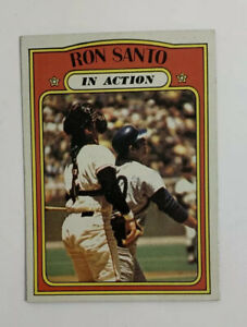 1972 Topps Ron Santo # 556 Baseball Card Chicago Cubs In Action HOF