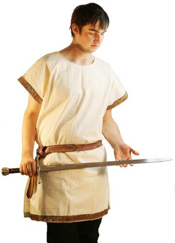 Medieval-Re-Enactment-Larp-Sca-Roman-Greek-Calico Ärmellos Geflochten Tunika