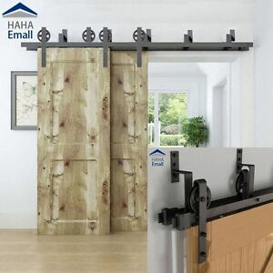 Charmant Image Is Loading 5 16 039 Rustic Bypass Sliding Barn Door