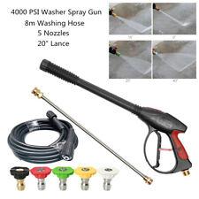 High Pressure Washer Spray Gun Wand Lance 8m Washing Hose Jet Kit 4000psi