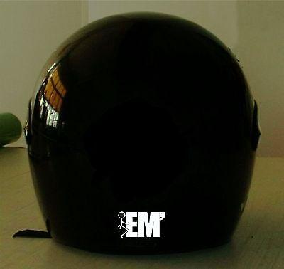 FU#K EM' REFLECTIVE MOTORCYCLE HELMET DECAL.2 FOR 1 PRICE