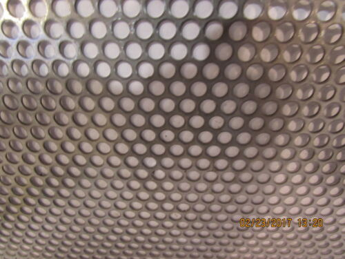 """3//16/"""" HOLES--20 GAUGE-304 STAINLESS STEEL PERFORATED SHEET 23/"""" X 23/"""""""
