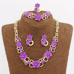 Purple Fashion Petal Complete Necklace Bracelet Set Party Casual Jewellery - Basildon, United Kingdom - Purple Fashion Petal Complete Necklace Bracelet Set Party Casual Jewellery - Basildon, United Kingdom