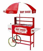 Nostalgia Electrics Hdc701 Vintage Collection Commercial Hot Dog Cart & Umbrella