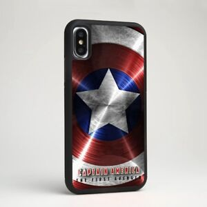 new concept 86dbc 6c688 Details about Captain America Shield Symbol Marvel Rubber Case Cover for  iPhone Samsung Galaxy