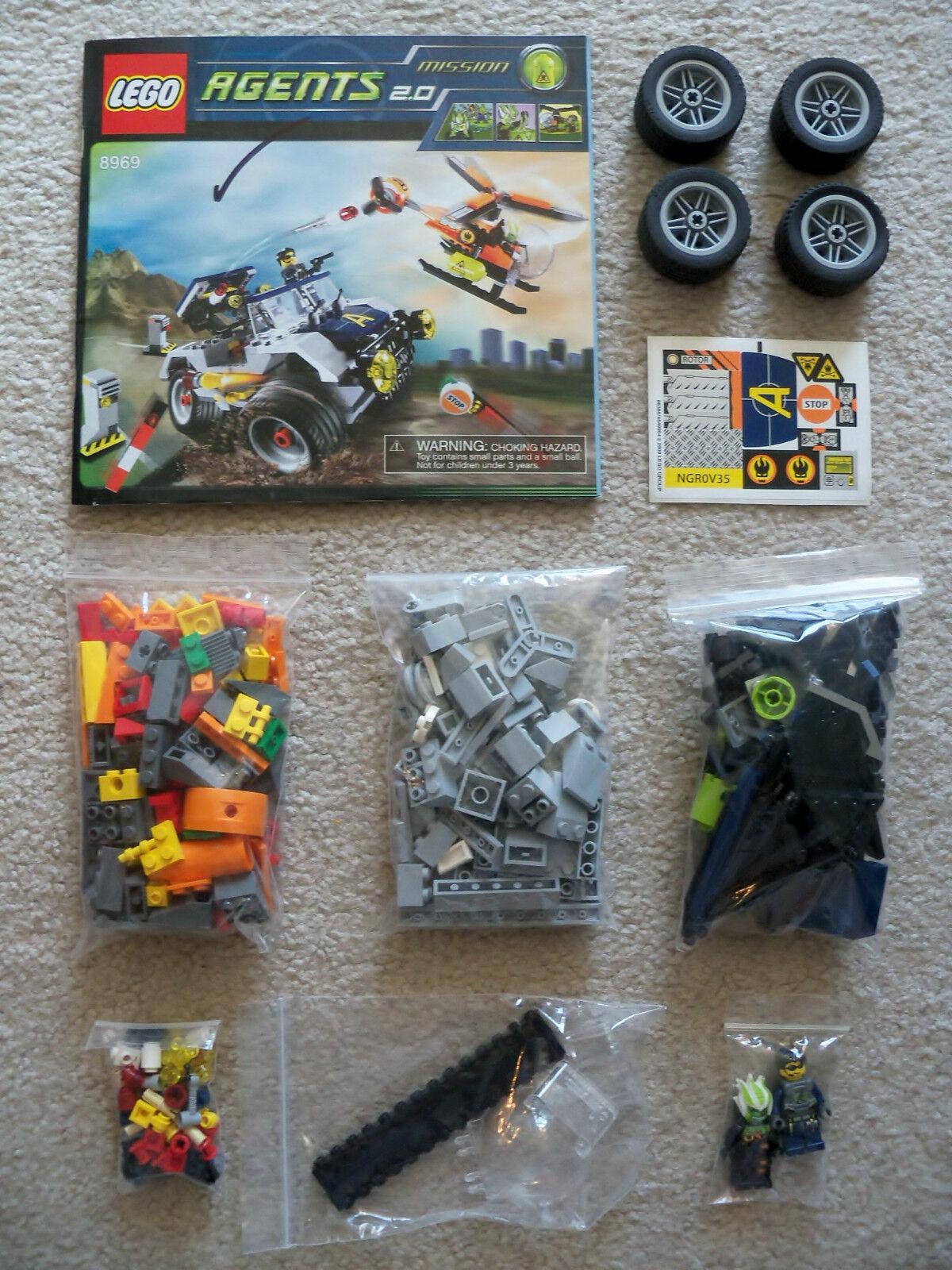 LEGO Agents - Rare Original Agents 8969 4-Wheeling Pursuit - Complete w  Inst