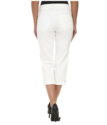 0070e0cfbdc6f 2 of 4 NYDJ Ariel Crop Hem Novelty Clasp Rhinestone Women s Jeans Capri NWT  Sz 4 White