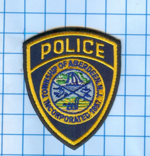 """Police Patch New Jersey-Township of Aberdeen N.J.1857 2 1//2/"""""""