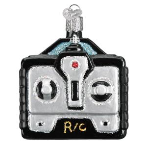 Old-World-Christmas-REMOTE-CONTROL-44120-X-Glass-Ornament-w-OWC-Box