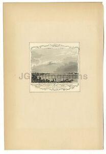 19th Century New York - Receiving Reservoir - 19th Century Engraving