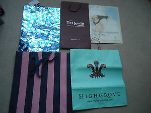 Highgrove-T-M-LEWIN-French-Connection-Jack-Wills-amp-Noel-Carrier-Bags