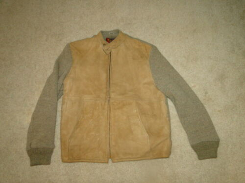 Vintage  Brown Leather  Jacket  sportswear  60s  S