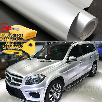 Super Gloss Gray Metallic Gunmetal Vinyl Film Wrap Air Bubble Free 40ft x 5ft