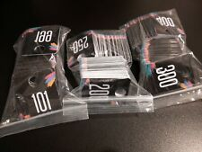 Lot Of 300 Plastic Number Tags Numbered 101 400