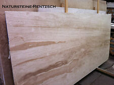 helle Marmorplatte Natursteinplatte beige mediteran  Fensterbank/ Couchtisch