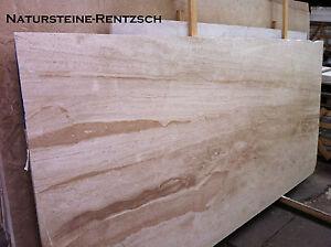 Helle Marmorplatte Natursteinplatte Beige Mediteran Fensterbank