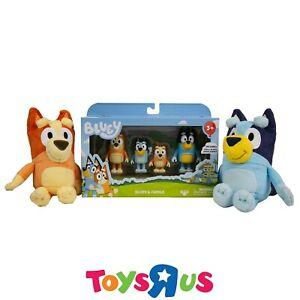 Bluey Bundle Pack! Figurine Family with Small Bingo & Bluey Plush