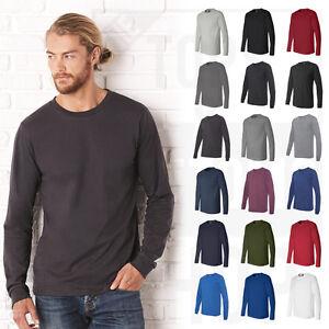 d8d7df3dd Bella Canvas Long Sleeve Jersey T-Shirt Mens Long Sleeve Tee S-2XL ...