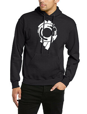 Ghost In The Shell Hoodie Anime Section 9 Logo Laughing Man Hooded Jacket Jumper