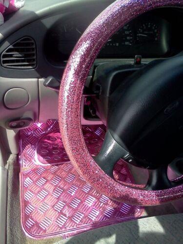 Fußmatten für Auto rosa Aluminium aussehen racing kompatibel alle Fahrzeuge