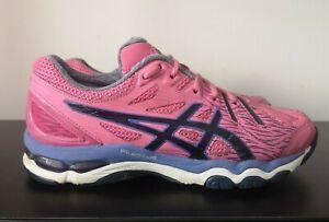 Chaussures-femme-Asics-Gel-Netburner-Super-6-Rose-Netball-Baskets-UK-6