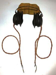 WW2-British-Military-Radio-Headphones-GI-J-Rare
