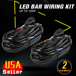 universal led light bar fog light wiring harness kit 40a 12v ... universal fog light wiring harness ebay fog light wiring kit ebay