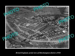 OLD-LARGE-HISTORIC-PHOTO-BRISTOL-ENGLAND-AERIAL-VIEW-OF-SHIREHAMPTON-c1930