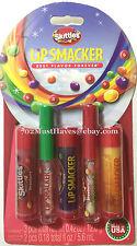 5 pack Lip Smacker SKITTLES Lip Balm/Lip Gloss Juicy Fruit Flavored!