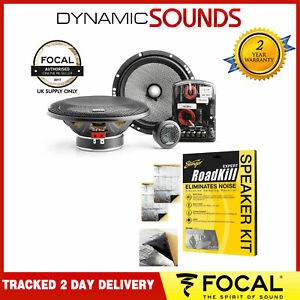 """Focal 165AS Access Series 2-Way 16.5cm 6.5"""" Component Car Speakers 120W PAIR NEW"""