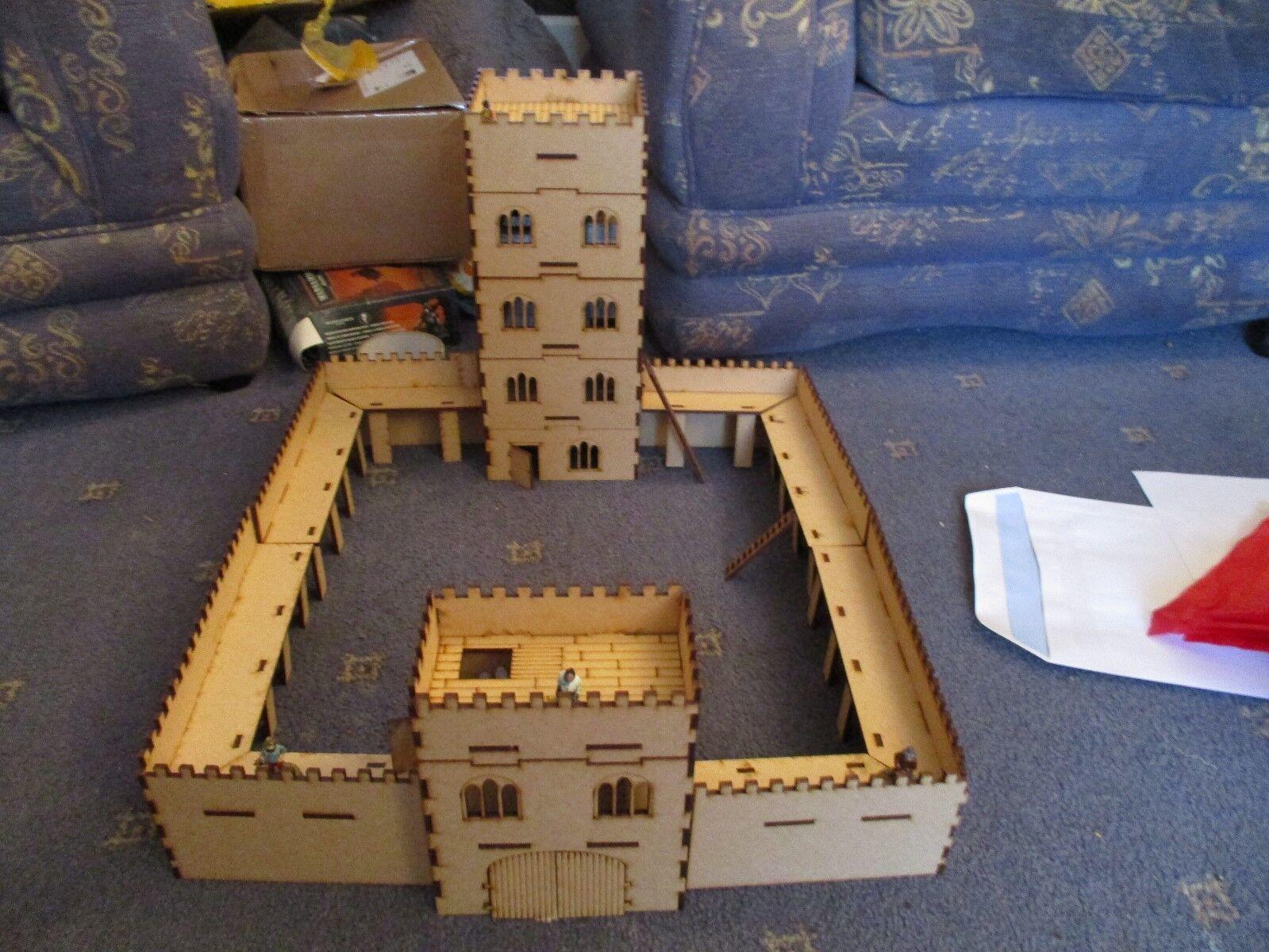 28mm Large Castle Medievil   Fantesy Wargames Building 3mm Laser Cut