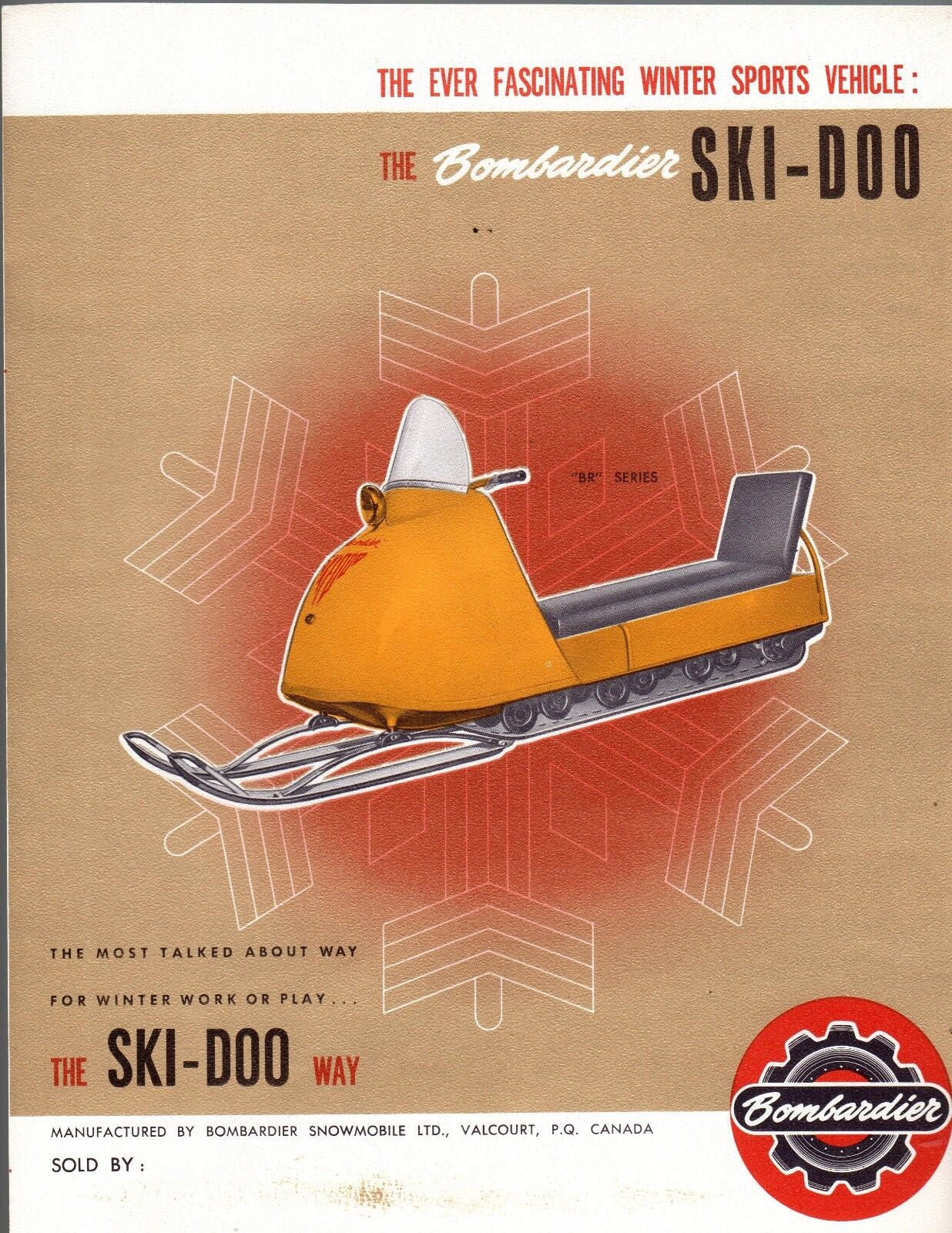 RARE  VINTAGE 1964 SKI-DOO SNOWMOBILE SALES BROCHURE 4 PAGES VERY NICE  (980)  after-sale protection