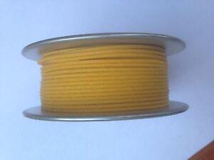 Wire-Plex-CLOTH-COVERED-C24-Yellow-24-GA-WIRE-100-ft-PREWAR-LIONEL-A-F-MARX