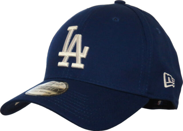 LA Dodgers New Era 3930 League Essential Royal Blue Stretch Fit Baseball Cap 1c90289c47a