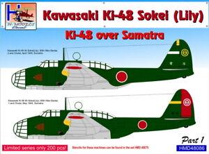 H-Model Decals 1/48 Kawasaki Ki-48 Sokei (Lily) Ki-48 over Sumatra Part 1 # 4808