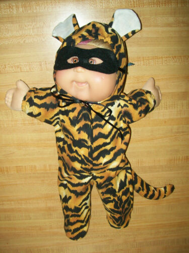 """YELLOW TIGER CAT HALLOWEEN COSTUME W// MASK for 15-16-17/"""" CPK Cabbage Patch Kids"""